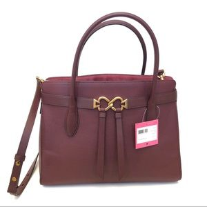 Kate Spade toujours large satchel cherrywood